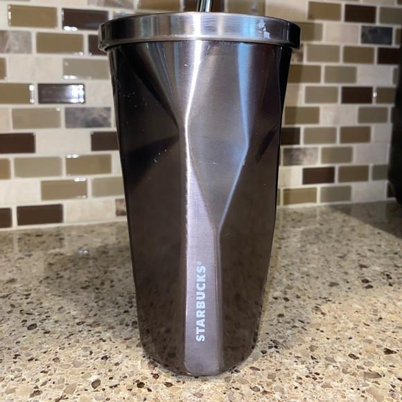Starbucks 2012 Stainless Steel faceted tumbler